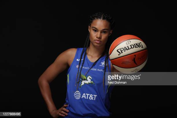 Satou Sabally of the Dallas Wings poses for a portrait during Media Day on July 16, 2020 at IMG Academy in Bradenton, Florida. NOTE TO USER: User...