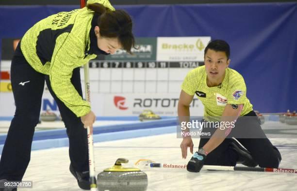 Satsuki Fujisawa a member of the bronzewinning women's team at the Pyeongchang Olympics and Tsuyoshi Yamaguchi who was on the men's team that...