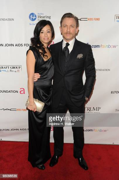 Satsuki Mitchell and actor Daniel Craig attend the 8th Annual Elton John AIDS Foundation�s An Enduring Vision benefit at Cipriani Wall Street on...