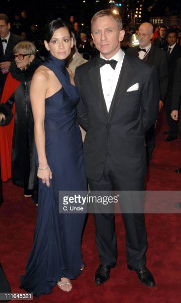 """Satsuki Mitchell and Daniel Craig during """"Casino Royale"""" World Premiere - Red Carpet at Odeon Leicester Square in London, Great Britain."""