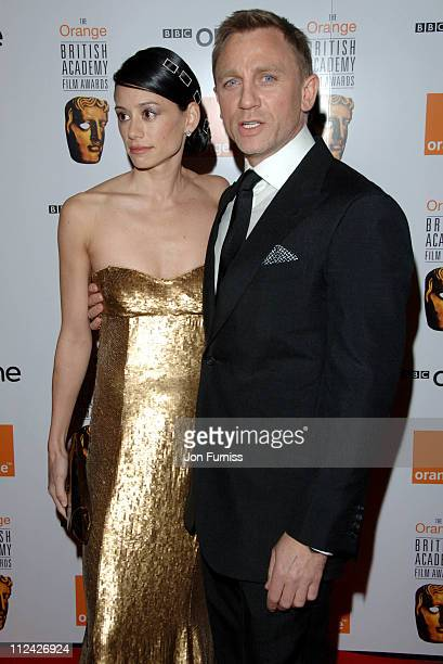 Satsuki Mitchell and Daniel Craig during The Orange British Academy Film Awards 2007 Inside Arrivals at Royal Opera House in London United Kingdom
