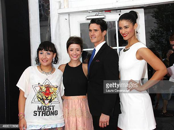 "Satsuki Okawa, Phoebe Neidhardt, Nick Ballard and Jessica Clark attend the ""Life is Amazing"" Lexus Short Films Series at SVA Theater on August 6,..."