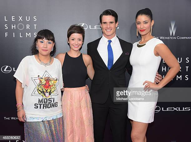 Satsuki Okawa Phoebe Neidhardt Nick Ballard and Jessica Clark attend the 2nd Annual Lexus Short Films 'Life is Amazing' New York premiere presented...
