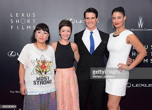 "Satsuki Okawa, Phoebe Neidhardt, Nick Ballard and Jessica Clark attend the 2nd Annual Lexus Short Films ""Life is Amazing"" New York premiere presented..."