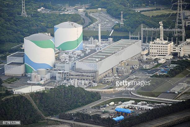 Satsumasendai Japan File photo taken from a Kyodo News helicopter shows the No 2 and No 1 reactors at the Sendai nuclear power station in...