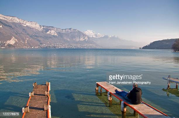 Saturday afternoon by lake in Annecy, France