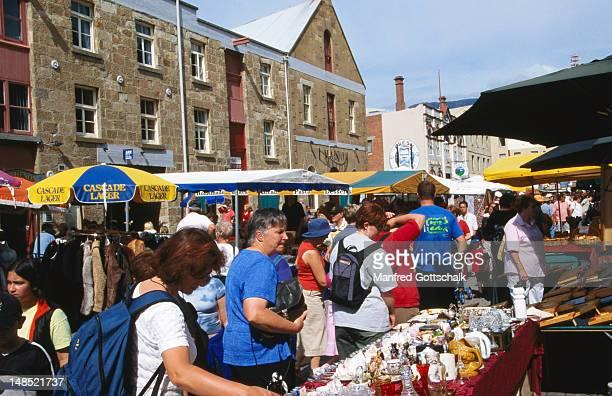 Saturday at Salamanca Market.