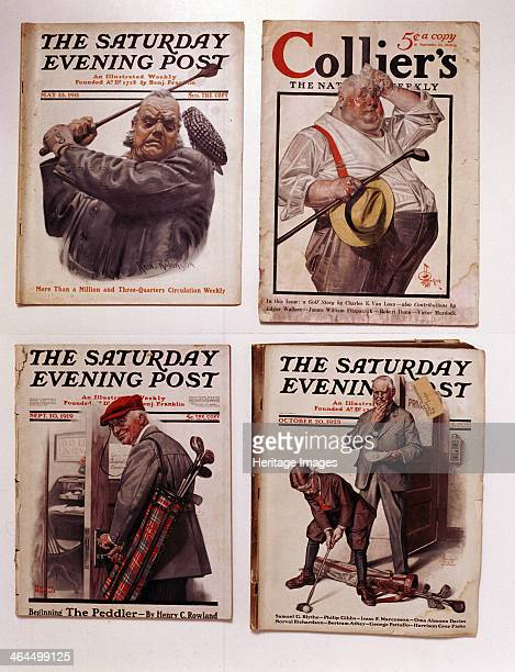 Saturday Evening Post and Collier's magazine covers American 191123
