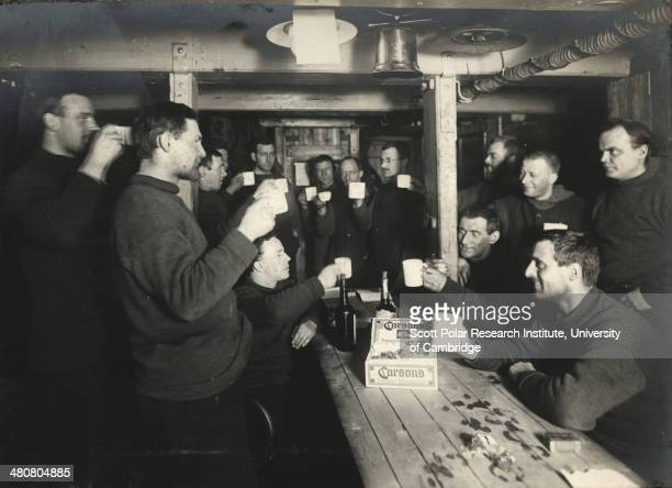 A saturday evening toast to 'Sweethearts and Wives' on board the 'Endurance' during the Imperial TransAntarctic Expedition 191417 led by Ernest...