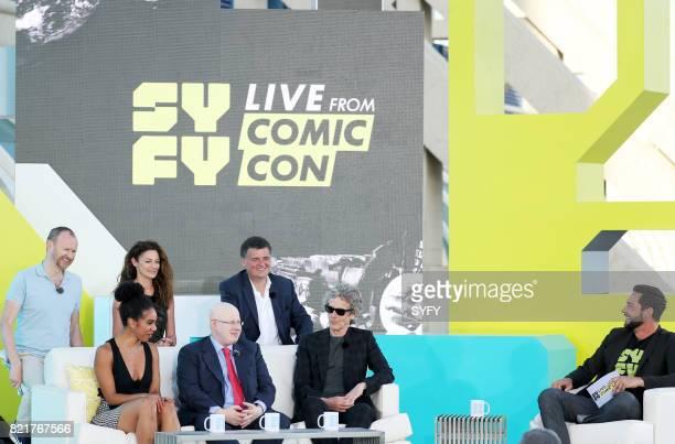 CON Saturday July 22nd 2017 Pictured top Mark Gatiss Michelle Gomez Steven Moffat Pearl Mackie Matt Lucas Peter Capaldi and Zachary Levi