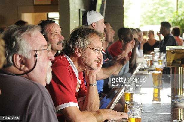 Saturday June 12 2010 Soccer fans watch the World Cup game between England and the United States at GR DiMillo's restaurant on Preble Street in...