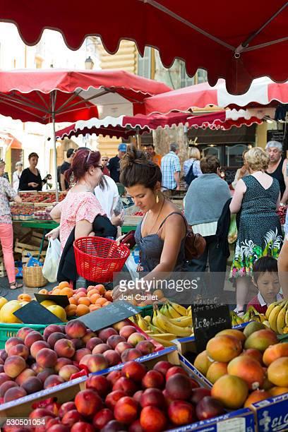 Saturday market in Aix-en-Provence, France