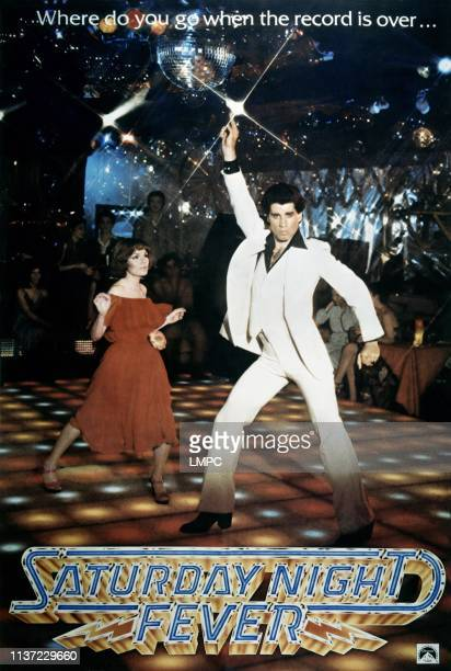 Saturday Night Fever poster Karen Lynn Gorney John Travolta 1977