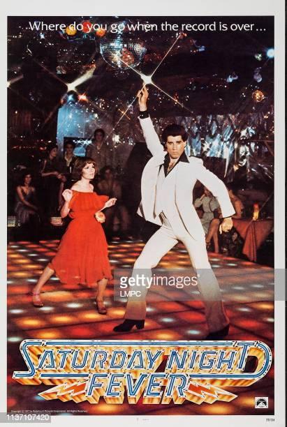 Saturday Night Fever poster US poster art from left Karen Lynn Gorney and John Travolta 1977