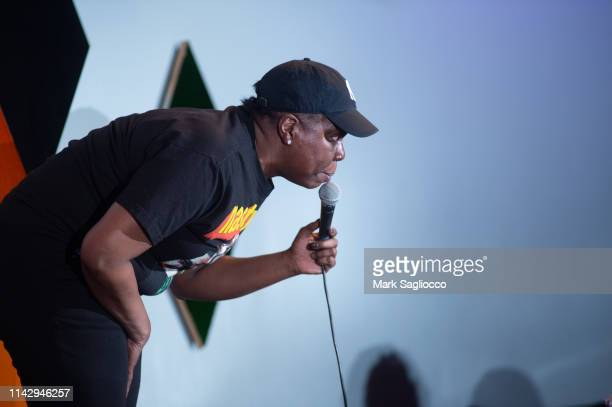 Saturday Night Live Comedian Leslie Jones is sighted at Caroline's Comedy Club on April 14 2019 in New York City