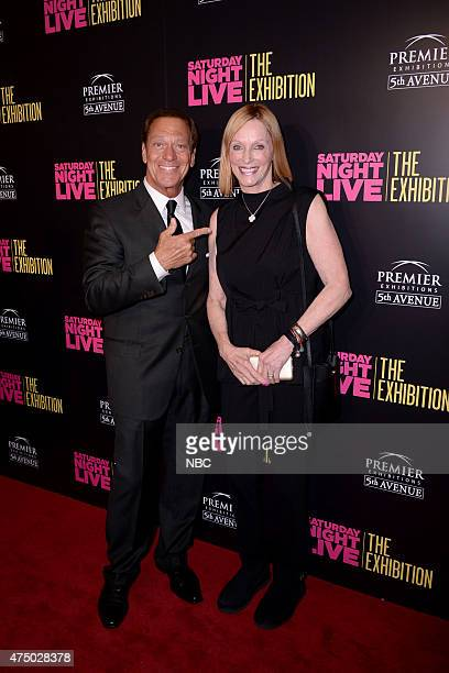 LIVE Saturday Night Live The Exhibition Pictured Joe Piscopo and Edie Baskin at the launch party for Saturday Night Live The Exhibition in New York...