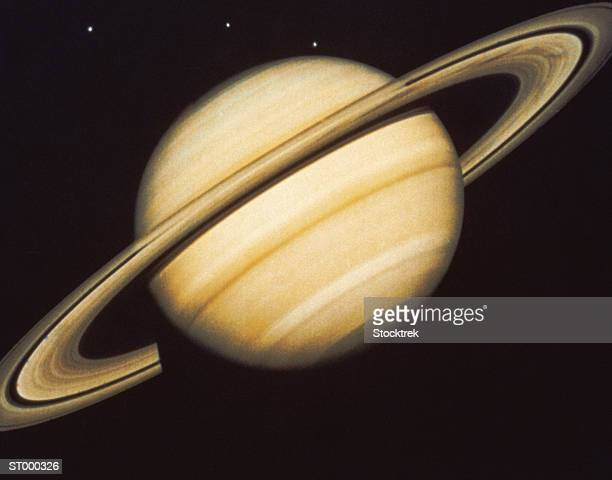 Saturn and Three Moons