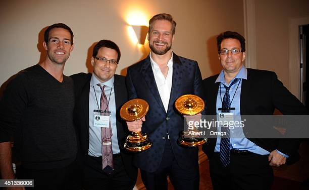 Saturn Award Producers Braley and Kevin Marcus with honoree Bryan Fuller attend the After Party for the 40th Annual Saturn Awards held at on June 26...