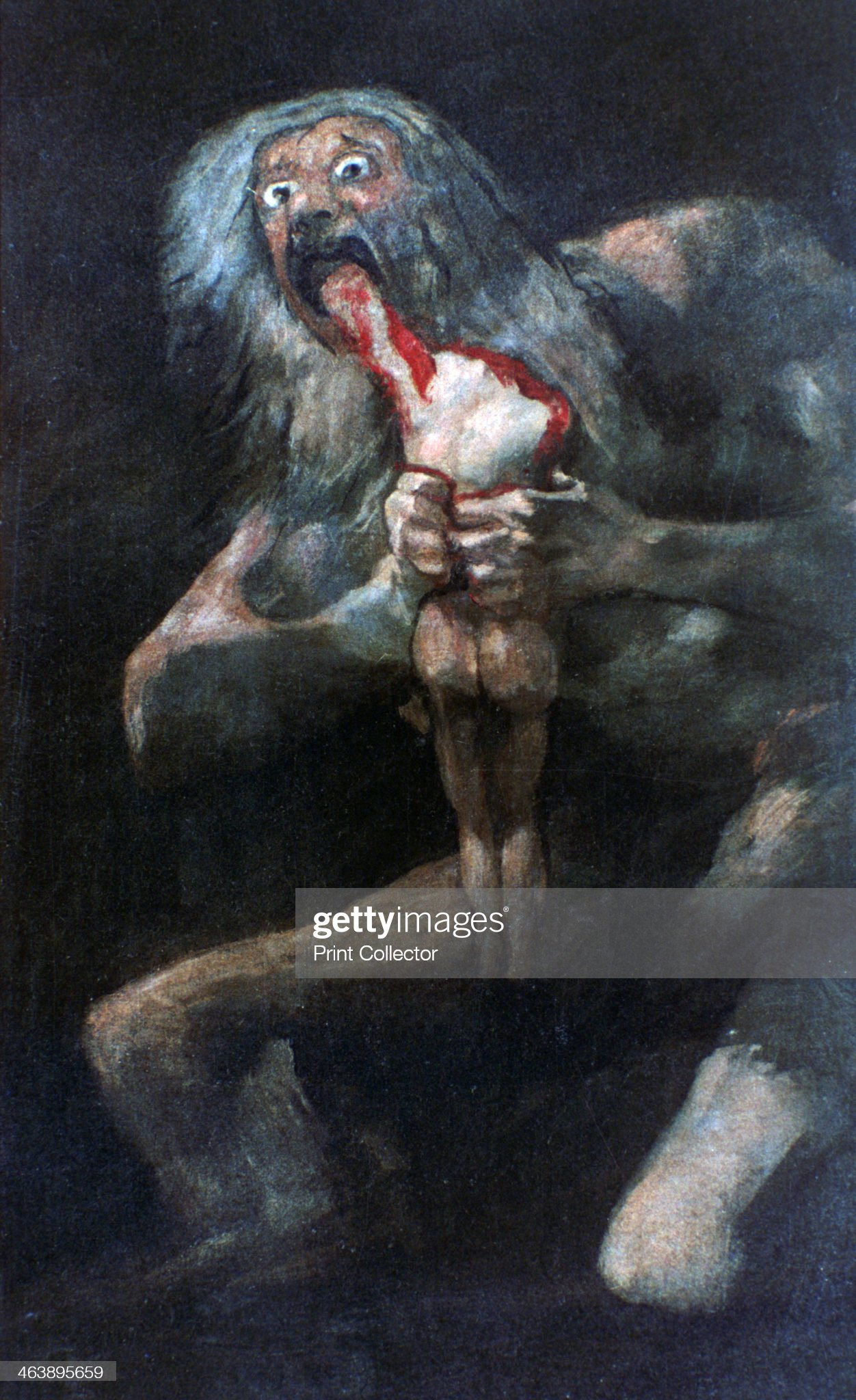 'Saturn Devouring one of his Children', 1821-1823. Artist: Francisco Goya : News Photo