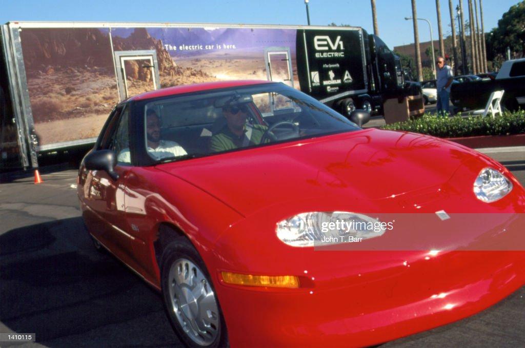Saturn Displays Its New Electric Car In Santa Ana Ca July 31
