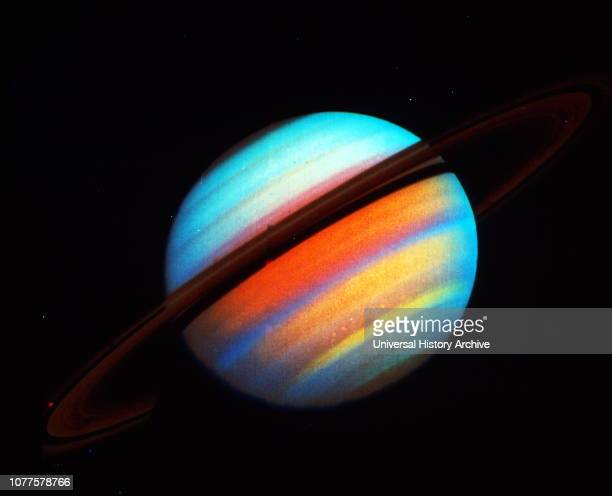 Saturn is the sixth planet from the Sun and the secondlargest in the Solar System after Jupiter It is a gas giant with an average radius about nine...