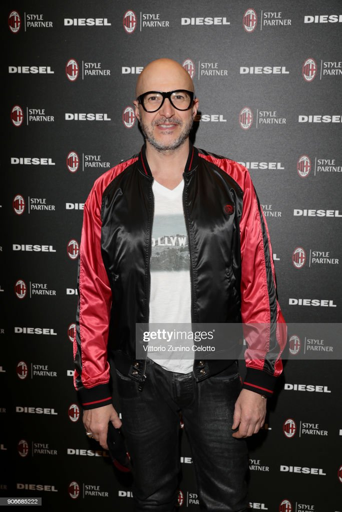 Saturnino attends DIESEL X A.C. MILAN SPECIAL COLLECTION on January 18, 2018 in Milan, Italy.