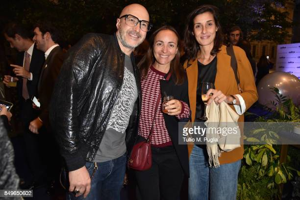 Saturnino Camila Raznovich and guest attend the Lavazza Coffee Design Party on September 19 2017 in Milan Italy