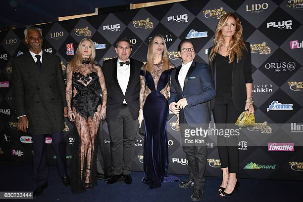 Satya Oblette Jeremy Urbain Tonya Kinzinger Jean Marc Genereux and Adriana Karembeu attend the 'Top Model Belgium 2017' Ceremony at Le Lido on...