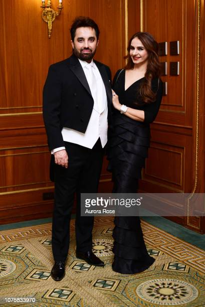 Satyan Tandon and Renku Tandon attend The International Debutante Ball at The Pierre Hotel on December 29 2018 in New York City