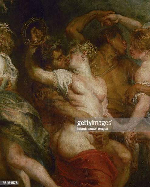 Satyr embracing a bacchante Detail of The Feast of Venus Oil on canvas After 1635 [Satyr umarmt eine Bacchantin Detail des Fests der Venus oel auf...