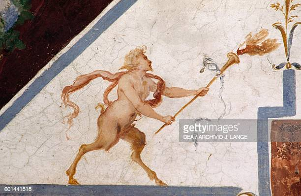 Satyr frescoes in the Hall of the Judgements of Paris 15741590 Della Corgna Palace or Ducal palace Castiglione del Lago Umbria Italy 16th century
