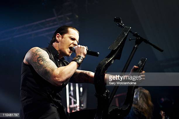 Satyr of Satyricon performs during the final day of Hammerfest at Pontins on March 19 2011 in Prestatyn United Kingdom