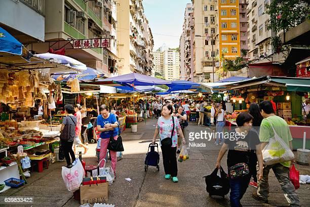 Sau Kei Wan Market in Hong Kong, China