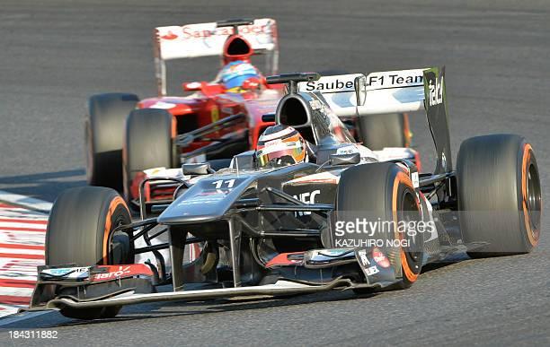 Sauber driver Nico Hulkenberg of Germany drives his car during the Formula One Japanese Grand Prix in Suzuka on October 13 2013AFP PHOTO / KAZUHIRO...