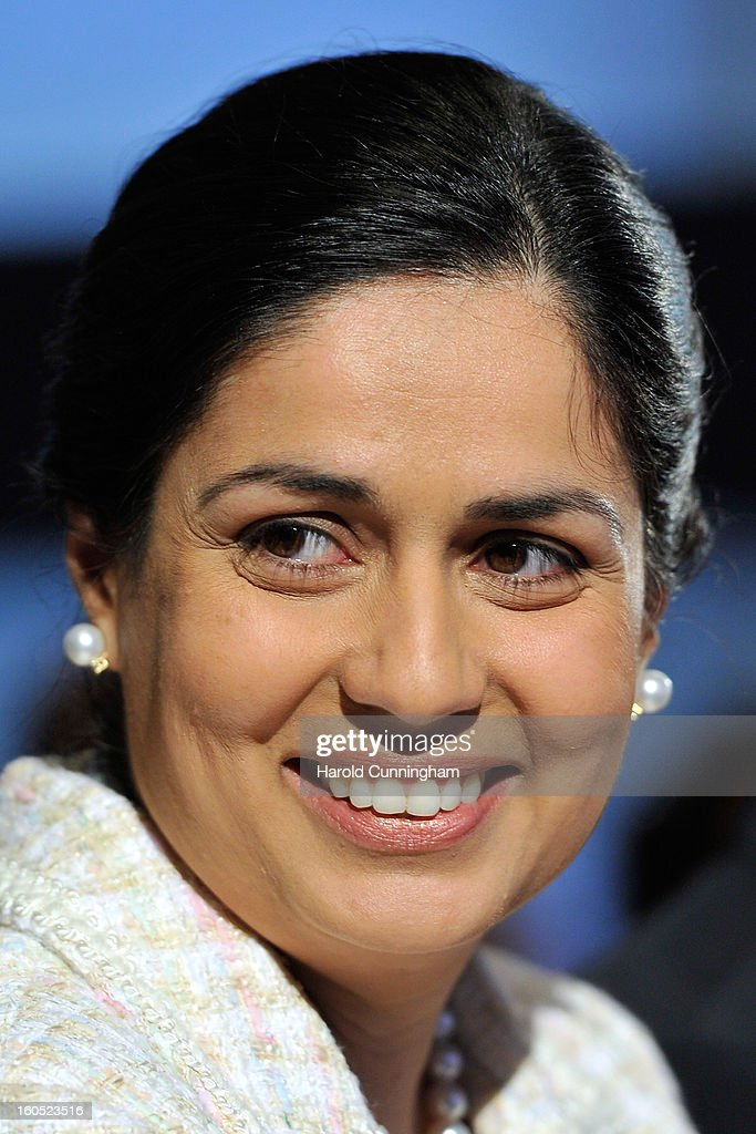 Sauber Team Principal Monisha Kaltenborn looks on as she unveils the Sauber C32-Ferrari new car for the 2013 Formula 1 season, during the launch at the Sauber Motorsport AG on February 2, 2013 in Hinwil, Switzerland.