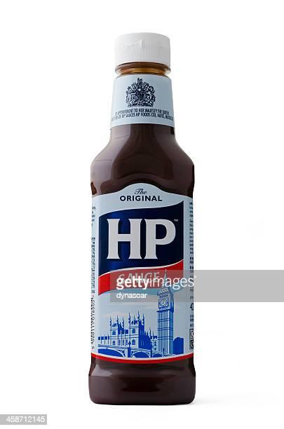 HP Sauce 425g plastic bottle isolated