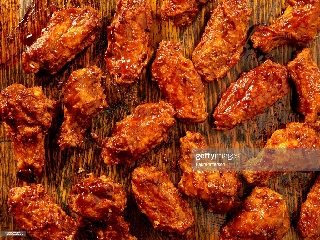 BBQ Sauce Chicken Wings : Stock Photo