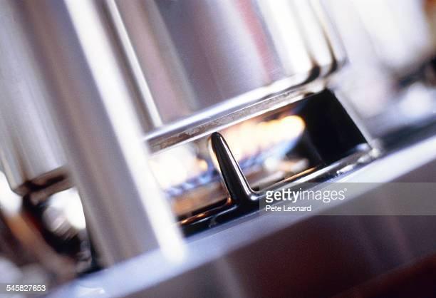 Saucepan on a gas burner