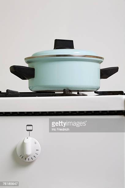 A saucepan on a stove