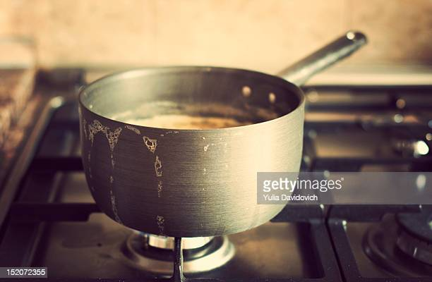 Saucepan on stove
