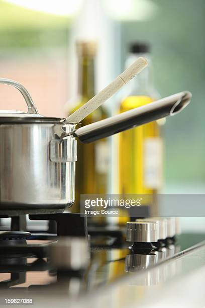Saucepan on stove