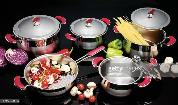 saucepan - kitchenware shop stock pictures, royalty-free photos & images