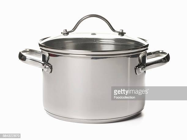 A saucepan with a glass lid