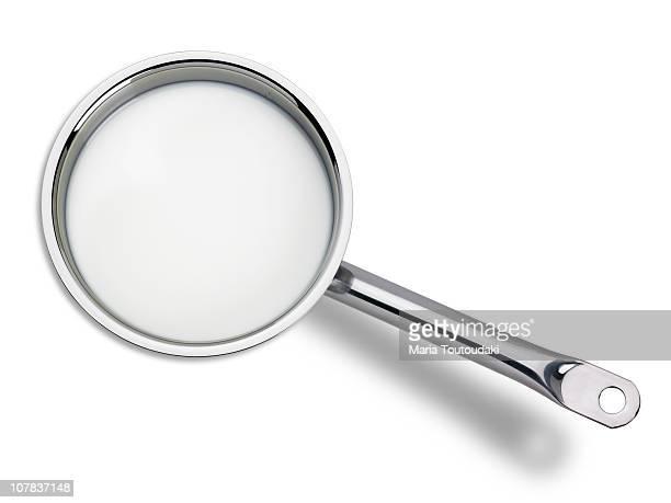 Saucepan with milk