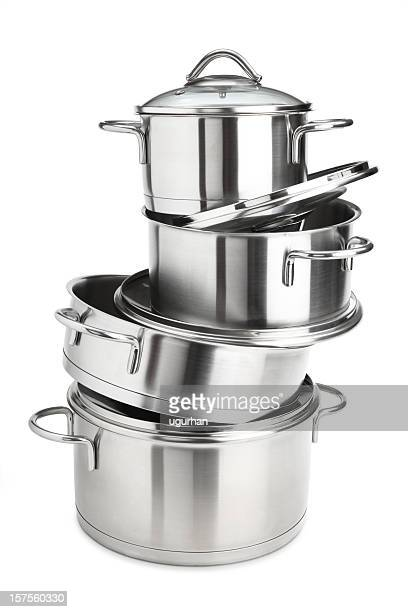 saucepans - cooking pan stock pictures, royalty-free photos & images