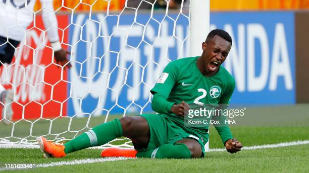 Saud Abvulhamid of Saudi Arabia reacts during the 2019 FIFA U-20 World Cup group E match between France and Saudi Arabia at Gdynia Stadium on May 25,...