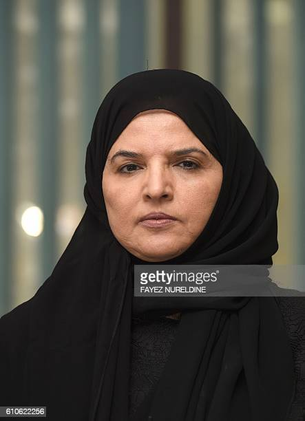 Saudi activist and campaigner Aziza alYousef looks on during an interview in the capital Riyadh on September 27 2016 Thousands of Saudis have signed...