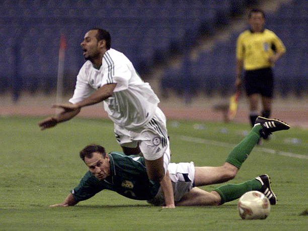 Saudi Ali Abdali L Fights For The Ball