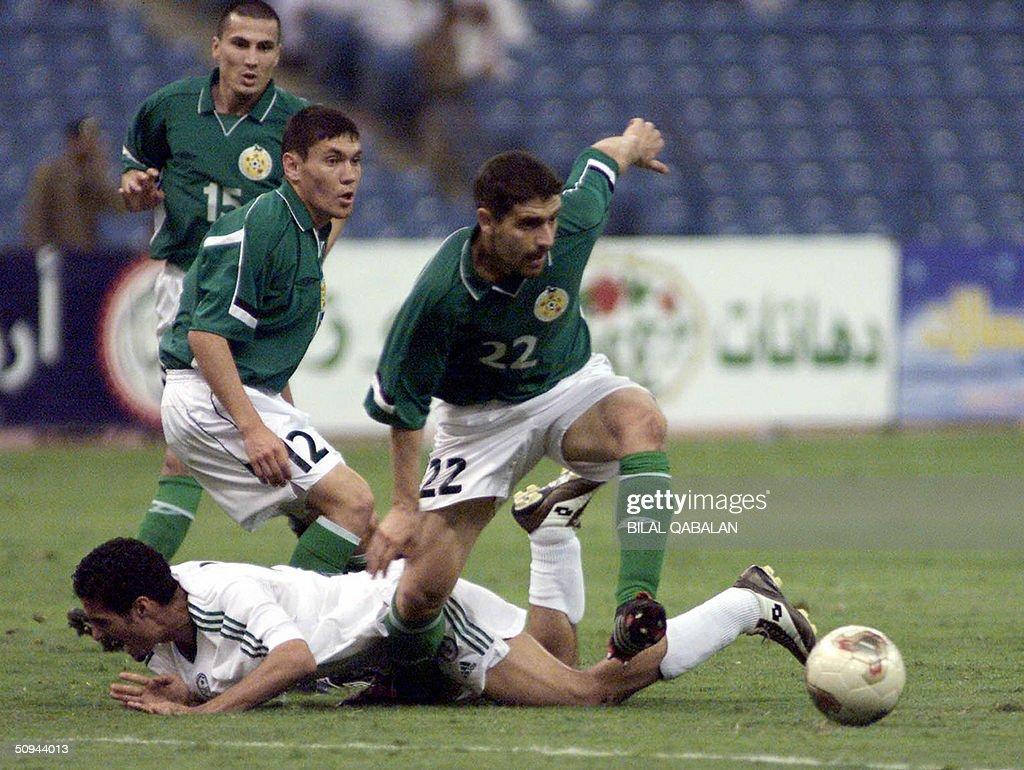 Saudi Ali Abdali C Fights For The Ball News Photo