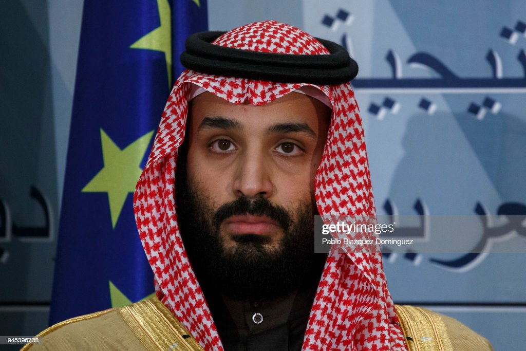 Spanish President Mariano Rajoy Receives Saudi Arabia Crown Prince Mohammed Bin Salman At Moncloa Palace : News Photo